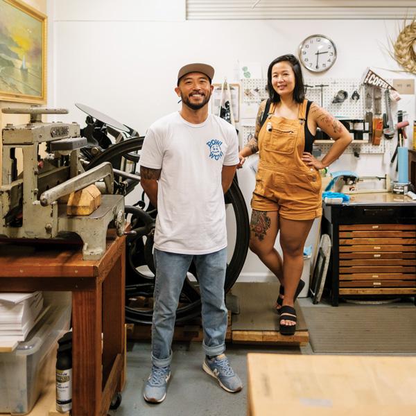 Gavin Murai and Cherish Fuller in the Formidably Impressed studio at Lana Lane